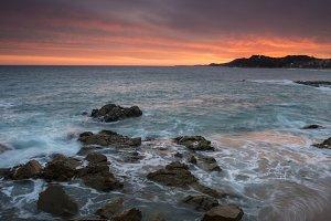 Seascape in Lloret de mar