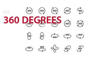 40 360 degrees UI icons
