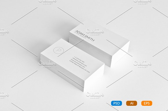 7 clean minimal business cards business card templates creative 7 clean minimal business cards business card templates creative market reheart Image collections