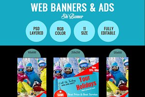 Ski Banner Design