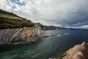Panoramic of cliffs