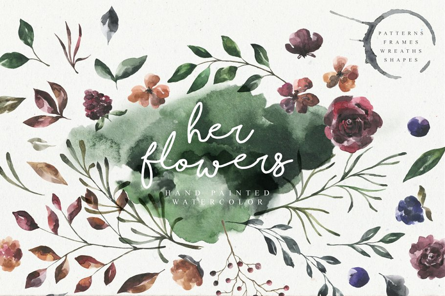 a974d507101f Her Flowers ~ Illustrations ~ Creative Market