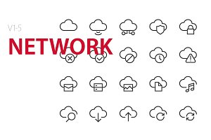 100 Network UI icons