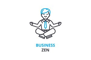 Business zen concept , outline icon, linear sign, thin line pictogram, logo, flat vector, illustration