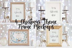 4 Christmas Themed Frame Mockups