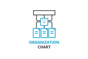 Organization chart concept , outline icon, linear sign, thin line pictogram, logo, flat vector, illustration