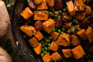 Sweet potato pan vegetable