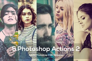 5 Photoshop Actions 2