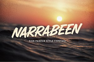 Narrabeen - Brush script typeface