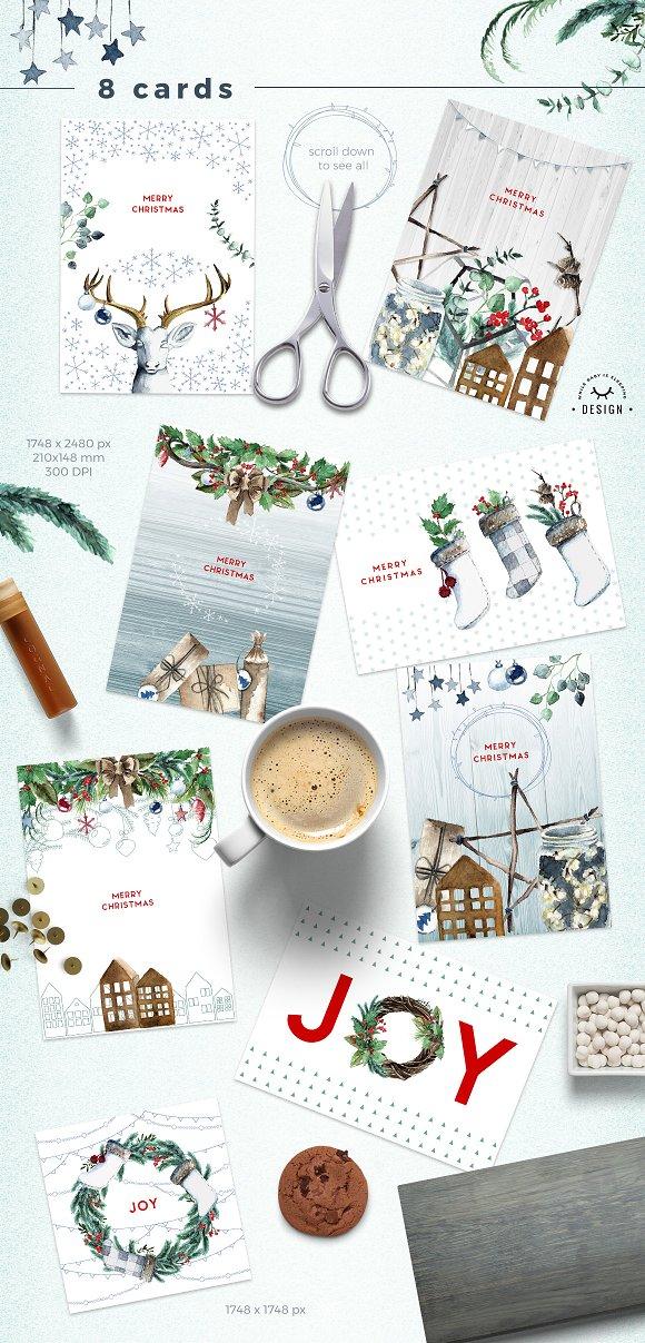 4781dd01e369 Watercolor Scandinavian Christmas ~ Illustrations ~ Creative Market