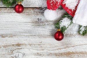Snowy Santa Cap