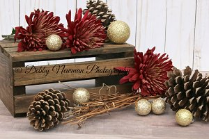Red & Gold Christmas Still Life
