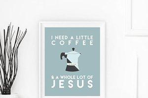 Coffee and Jesus Wall Art Print