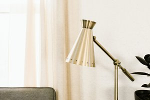 Brass Lamp in Modern Home