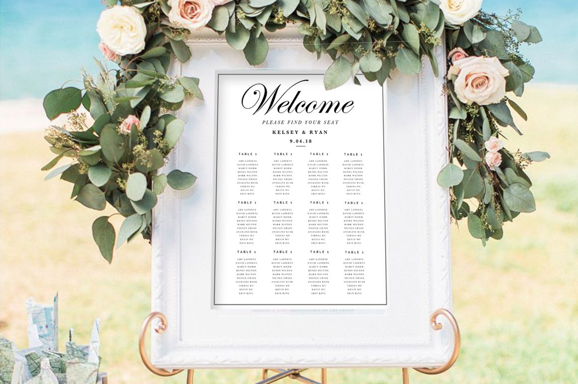 3 Wedding Seating Chart Templates Creative Photoshop Templates Creative Market