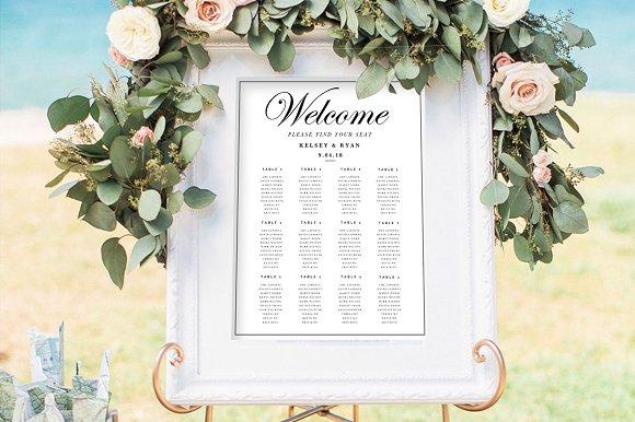 3 wedding seating chart templates flyer templates creative market