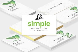 12 Simple Business Card Mockups