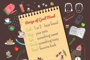 Meal recipe template