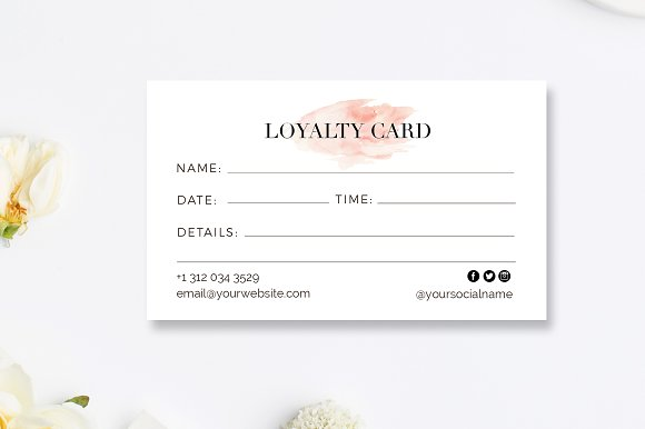 hairstylist loyalty reward cards business card templates