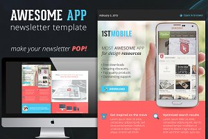 Flat and Colorful App Email Template