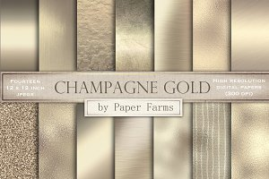 Champagne gold textures