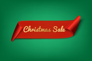 Christmas Sale. Ribbon