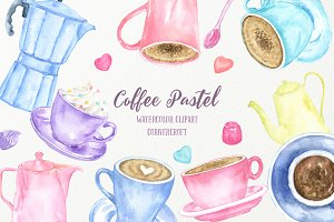 Watercolor Coffee Pastel