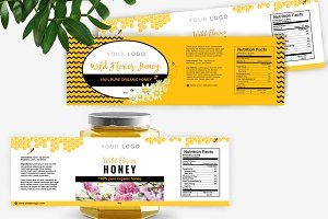 Honey Label Template ID33
