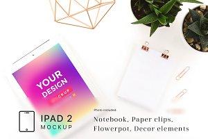 Minimalistic iPad 2 Mockup