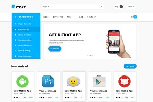 Kitkat App E-Commerce html template