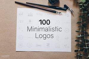 100 Minimalistic Logo Templates