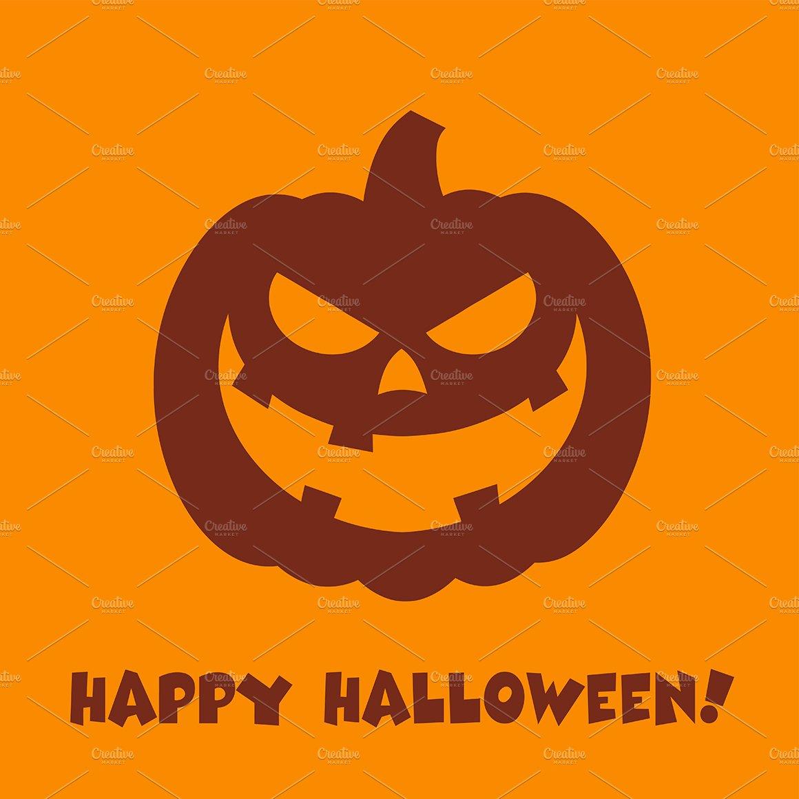 Halloween pumpkin cartoon evil face illustrations creative market thecheapjerseys Gallery