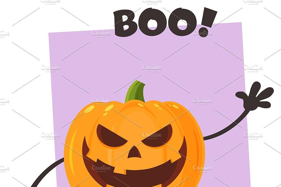 Halloween Pumpkin Cartoon Images.Cartoon Evil Halloween Pumpkin