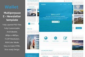 Wallet - Multiporpuse email template