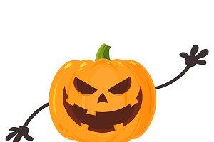 Smiling Evil Halloween Pumpkin