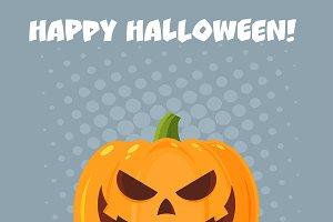 Halloween Pumpkin Cartoon Character