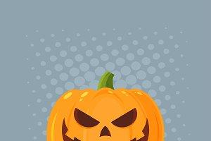Grinning Evil Halloween Pumpkin