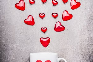 Mug with red hearts