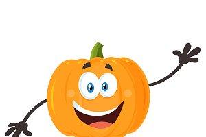 Happy Orange Pumpkin