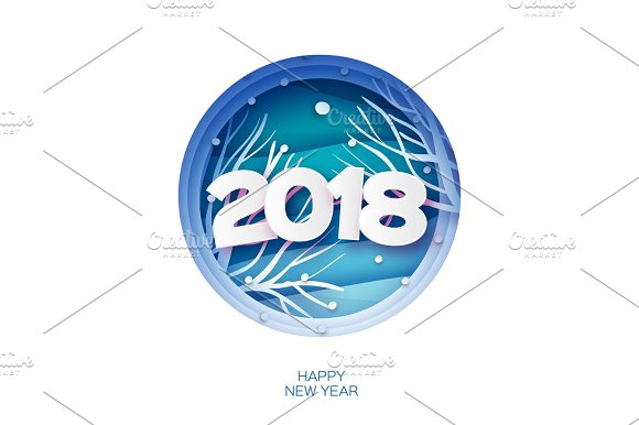 2018 happy new year background wild nature greetings card for christmas invitations paper