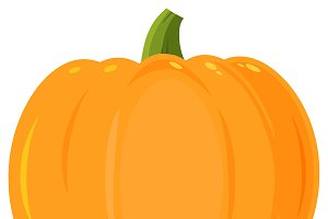 Orange Pumpkin Flat Simple Design