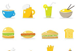 Spring Icons - Restaurant Set