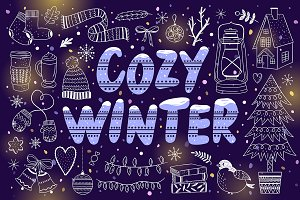 Cozy Winter Illustrations + Patterns
