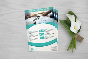 Flyer For Web Designer  - V660