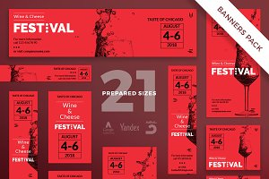 Banners Pack | Wine Festival