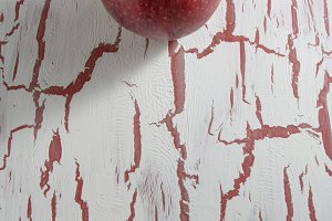 Red Apple, on grunge background