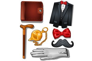 Gentleman aristocrat clothing and accessories