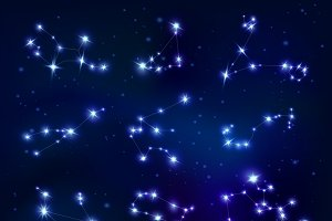 Constellations Zodiac Signs Set
