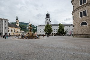 Scenic view of Residenzplatz in Salzburg
