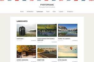 PhotoFrame - WP Photography Theme